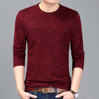 2017 Spring Mens Pullover Sweaters Simple Style Cotton O Neck Sweater Jumpers Autumn Fashion Thin Sliming