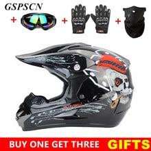 GSPSCN Kaski MTB DH Motocross Kask Off Road Profesjonalne ATV Krzyż Dirt Bike Wyścigi Motocyklowe Kask Capacete de Moto casco