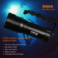 ORCATORCH D860 Underwater Video Photo Light 40W Rechargeable 4200lm Handheld Diver Light LED Technical Diving Torch 150M
