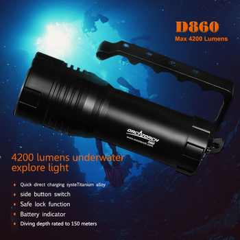 ORCATORCH Underwater Video Photo Light 40W Rechargeable 4200lm Handheld Diver Light LED Technical Diving Torch 150M - DISCOUNT ITEM  12% OFF All Category