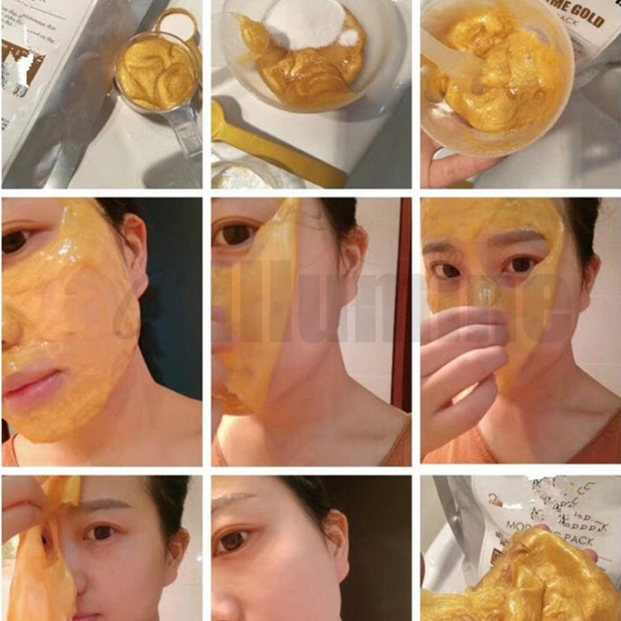 Beauty Salon Products High-end Luxury 24K Gold Peel Off Modelling Mask Gel Mud Compact 1000ml+100g Plant Amino Acid Powder