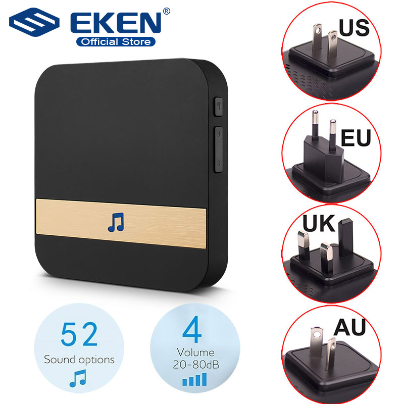AC 110-220V Smart Indoor Doorbell Wireless WiFi Door Bell US EU UK AU Plug XSH app For EKEN V5 V6 V7 M3(China)