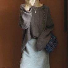 Litvriyh lady knitted cashmere sweater women and pullover long sleeve O-neck thick warm female jumper top