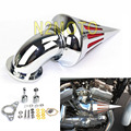 Хром Спайк мотоцикл Воздухоочиститель Впуска Фильтр Для Harley Davidson Softail Road King Glide 2001-2009