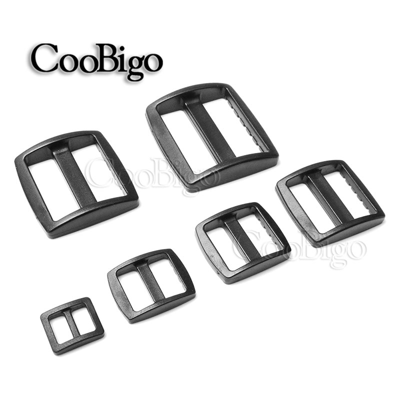 Apparel Sewing & Fabric 1000pcs/pack Plastic Black Curve Tri-glide Slider Adjustable Buckle For Bags Webbing Durable Service