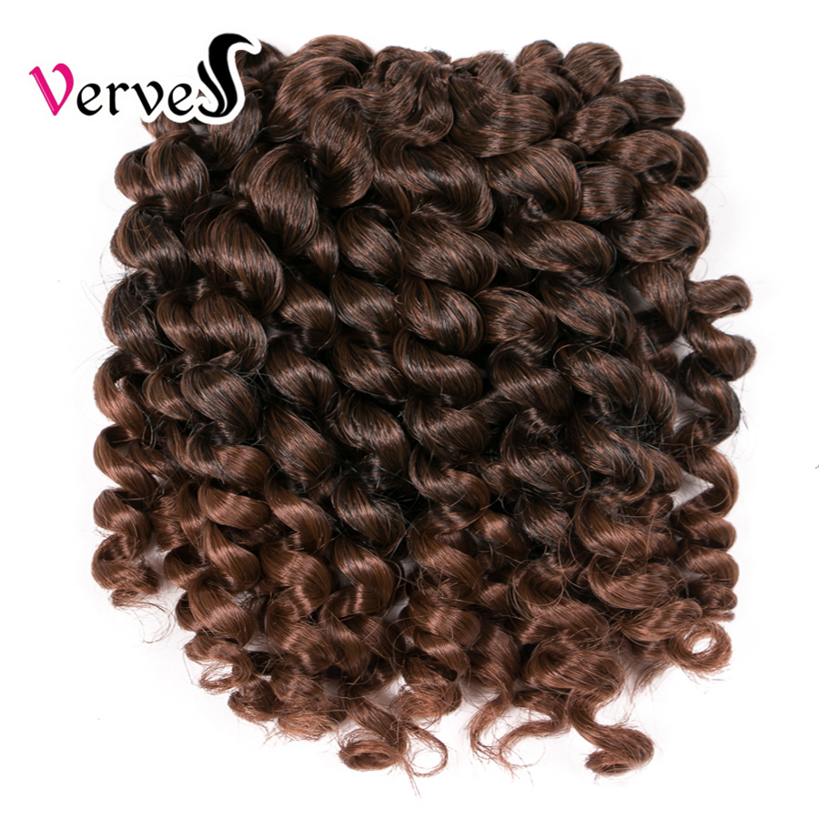 Crochet braids hair 1 piece 75g/pack 8 inch synthetic ombre braiding hair extentions VERVES Havana Twist braids