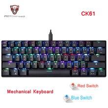 Motospeed CK61 Chơi Game Cơ RGB Bàn Phím Với Màu Xanh Đỏ Chuyển Đổi Tốc Độ Tất Cả Anti Ghost Cho Máy Tính Truyền Hình hộp Chơi Game