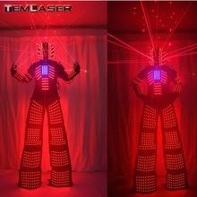 Светодио дный светодиодный светящийся робот костюм с лазерным шлемом перчатки лазерный робот костюм робота из светодиодов. Для музыкальных фестивалей, вечерние S