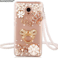 Xiaomi Redmi Note 4x Case Luxury Diamond Holder Stand Back Cover For Xiaomi Redmi Note 4x