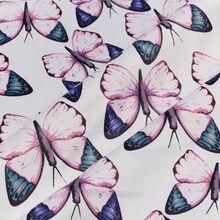 Leo & lin japão estilo de tecidos diy artesanato pano tecido impressão digital algodão simples três cores borboleta tissus 50cm