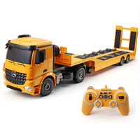 RC Truck Flatbed Semi Trailer 1:20 2.4G Engineering Tractor Remote Control Construction Diecast Model Kids Electronics