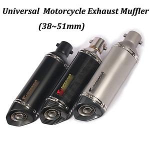 Image 1 - 38~51mm Universal Motorcycle Exhaust Muffler Modified with DB Killer For PCX150 CBR125 CBR150 MSX125 M3 MSX125SF CBR250 CBR300R