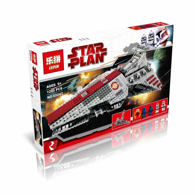 LEPIN 05042 Star Wars series Republic attack cruiser 1200PCS Puzzle Brick  Toys Compatible legoed with 8039