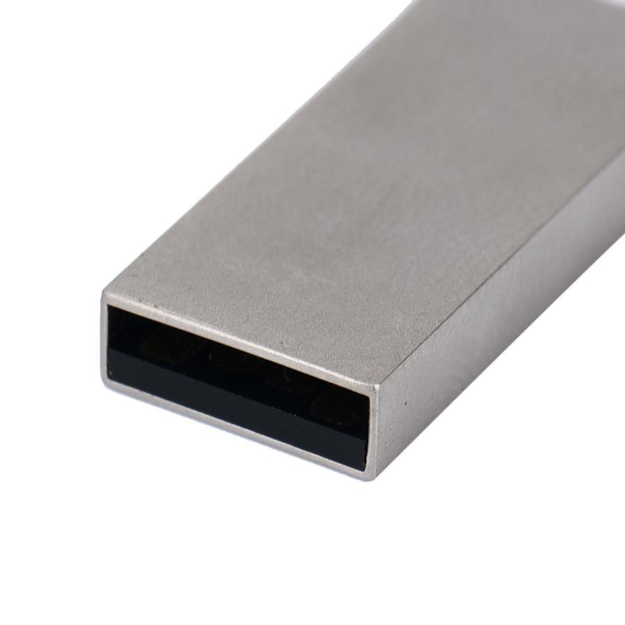 Metal USB 2.0 WaterProof Flash Memory Drive Storage Stick U Disk Circle  Drop shipping Aug07