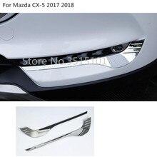 Кузова головы спереди туман брови отделка свет лампы рамка палки ABS Chrome Обложка 2 шт. для Mazda CX-5 2017 2018