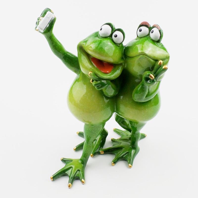 Kawaii Αστεία Frog Ράγα Ειδώλια - Διακόσμηση σπιτιού - Φωτογραφία 3