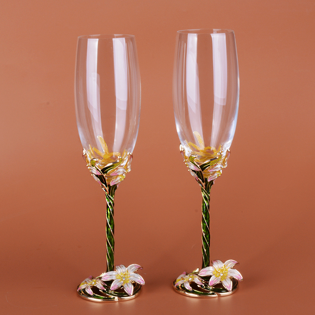 Personalized Custom 2pcs Lot Wedding Wine Gles For Love Crystal Champagne Flutes Toasting