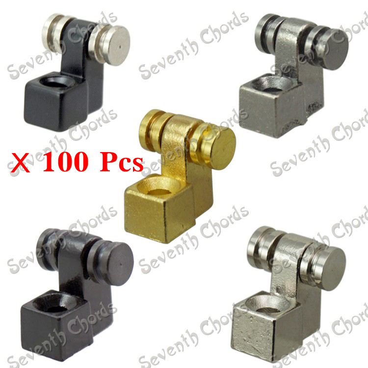 100 Pcs Electric Guitar Roller String Tree Retainers Chrome Black Gold Gun Color for choose