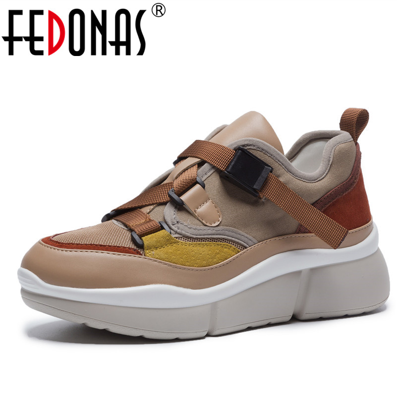 FEDONAS New Brand Women Sneakers Cow Suede Round Toe Spring Autumn Basic Flats Platforms Cross-tied Brand Casual Shoes Woman women flats brand women shoes women sneakers genuine leather basic female casual shoes round toe spring autumn xammep