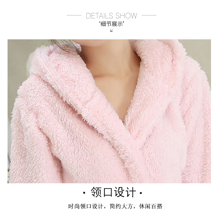 2019 Winter Bathrobe Women Pajamas Bath Flannel Warm Robe Sleepwear ... 7c444b3c5