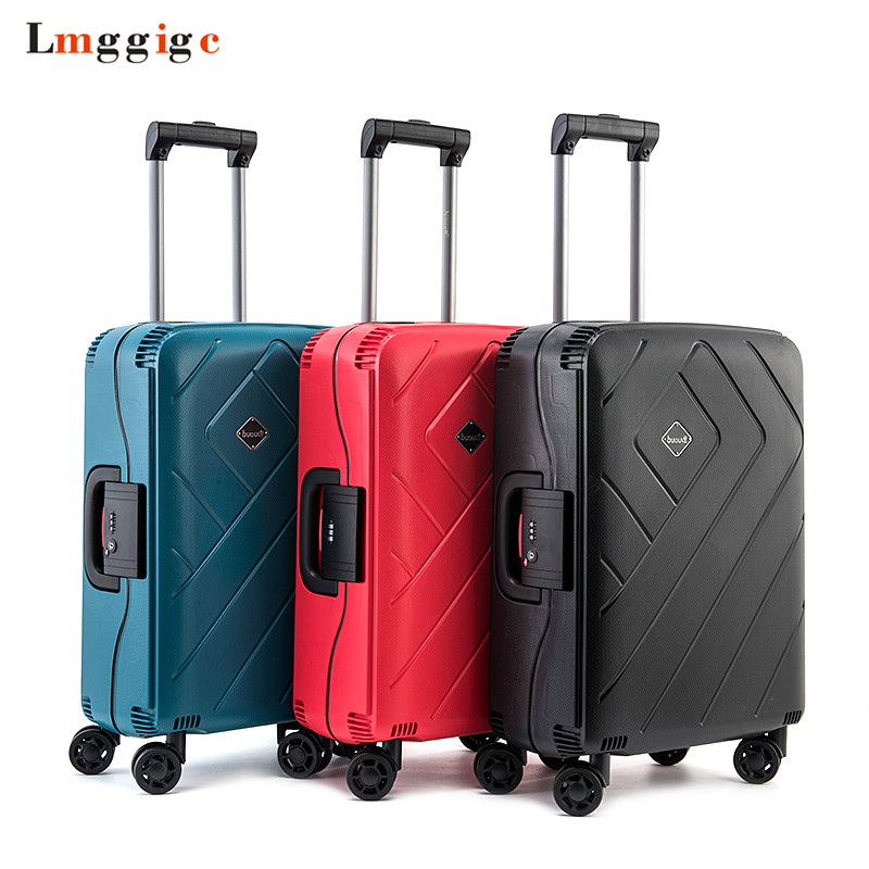 Wheel Travel Suitcase,Rolling Luggage Bag, Strong Aluminum Rods Trolley Case,PP Material Carry-Ons,New Fashion box