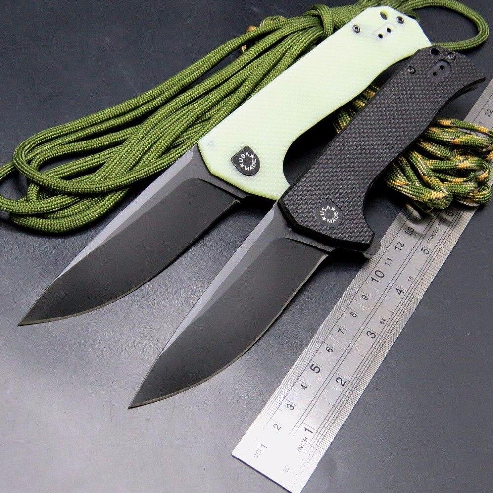 Nouvelle Arrivée ZT 0804 roulement à billes Couteau Pliant en acier G10 Titane placage Poignée 204 P Camping Survie Couteau EDC Main outil