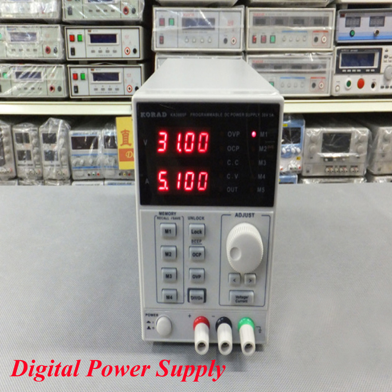 цена на Programmable Precision Adjustable 30V, 5A DC Linear Power Supply Digital Regulated Lab Grade KA3005P