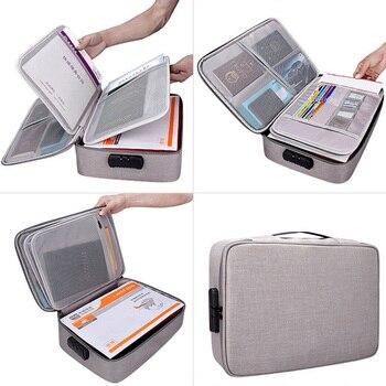 Сумка для документов, большая емкость, сертификаты, файлы, органайзер для дома, путешествия, хранение важных предметов