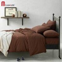 Yeni 100% Pamuk Lüks Yatak Set Düz Renk Nevresim Kraliçe yatak Yorgan Setleri Yatak Kapakları Kış Üzgün Sıcak 4 Adet Bir tek