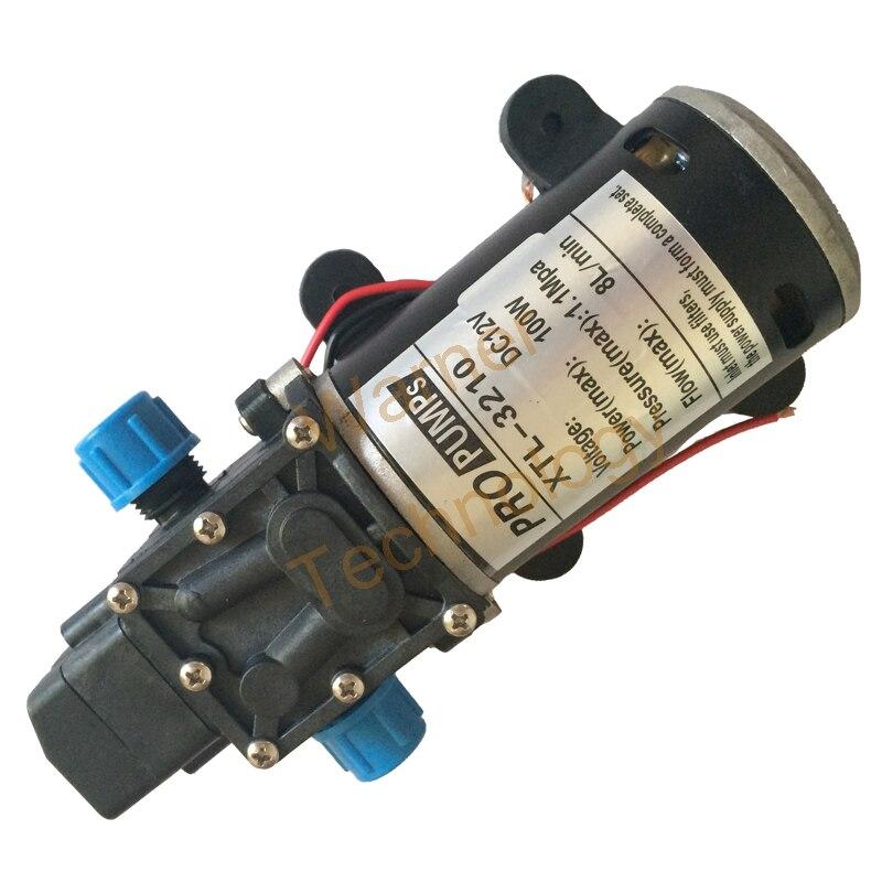 Водяной насос высокого давления микро электрический мембранный насос 3210YB 12 В в 100 Вт 8л/мин высокое давление большой поток самовсасывающий н...