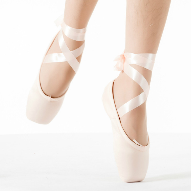 2017 Hot Child and Adult Canvas ballet pointe dance shoes Pink/Red ladies professional Satin ballet shoes with ribbons shoes
