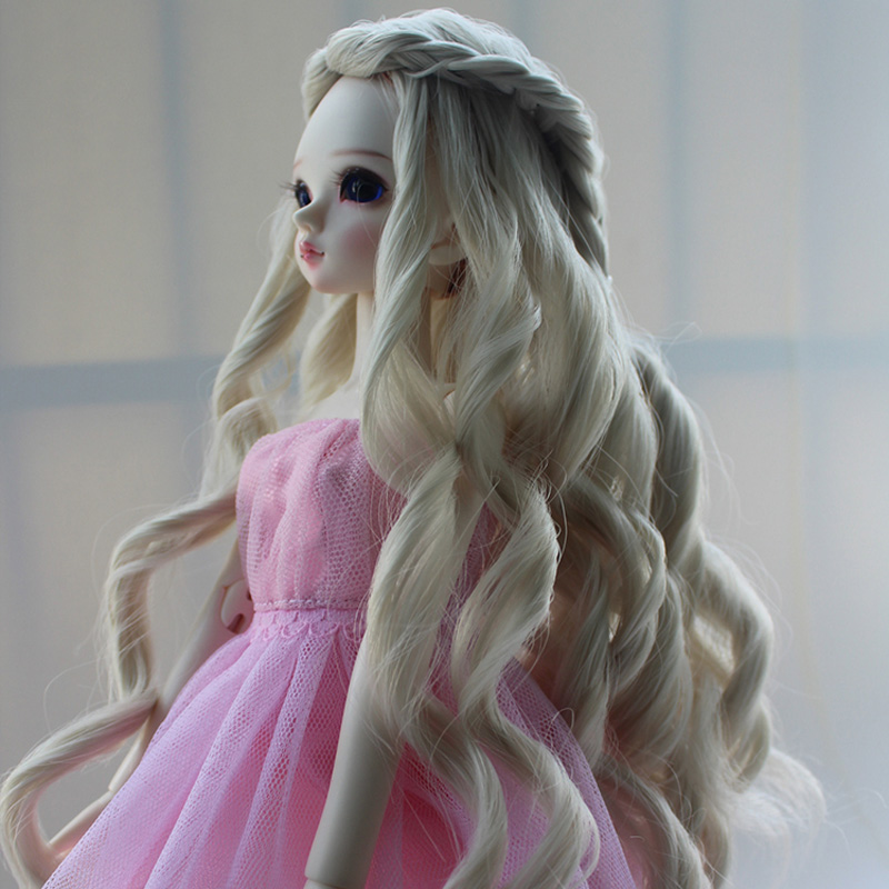 1/3 1/4 1/6 New Style Bjd SD Doll Wig Fashion High Temperature Big Wavy BJD Dollfile Hair Wig synthetic bjd wig long wavy wig hair for 1 3 24 60cm bjd sd dd luts doll dollfie cut fringe