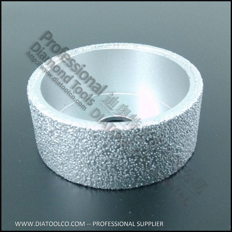 75mmx30MM Flat grinding wheel diamond profile wheel edge grinding discs Vacuum Brazed Diamond grinding wheel  цены