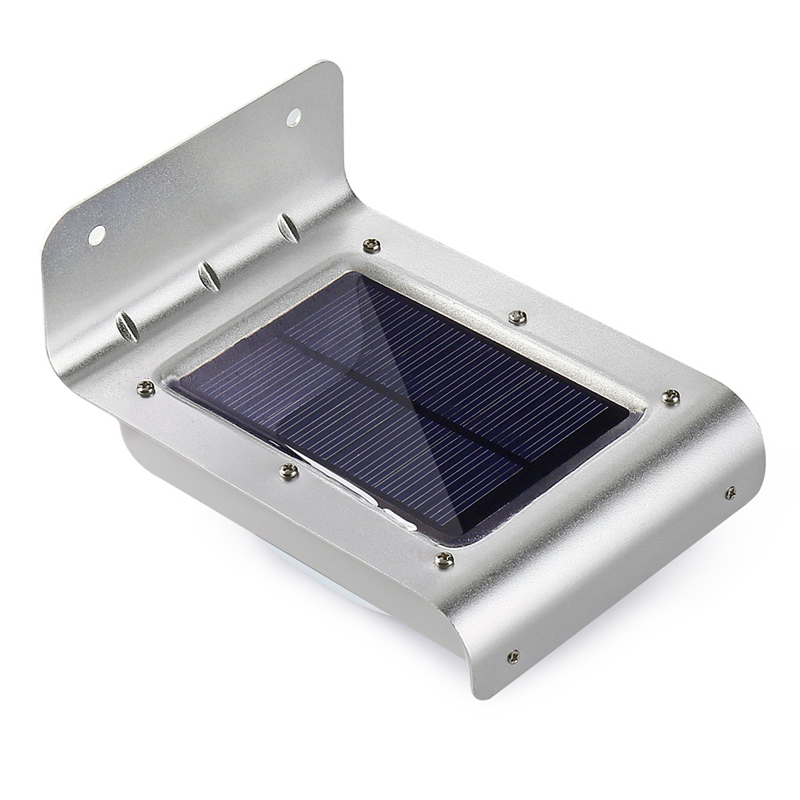 Qedertek 16 LED Solaire PIR En Plein Air Lumière Solaire Motion Sensor Led Lampe Solaire Feux Mur De Sécurité pour Jardin Extérieur patio