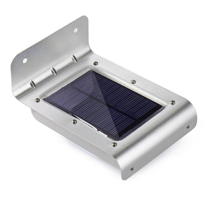 Qedertek 16 LED Solare PIR Luce Esterna Solar Powered Sensore di Movimento Ha Condotto La Lampada di Sicurezza Solare applique da Parete per Esterni Da Giardino patio