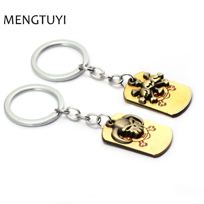 J Store Cosplay ONE PIECE Keychain Portgas D Ace /Marshall D Teach Key chain anime llaveros for men women gift souvenir