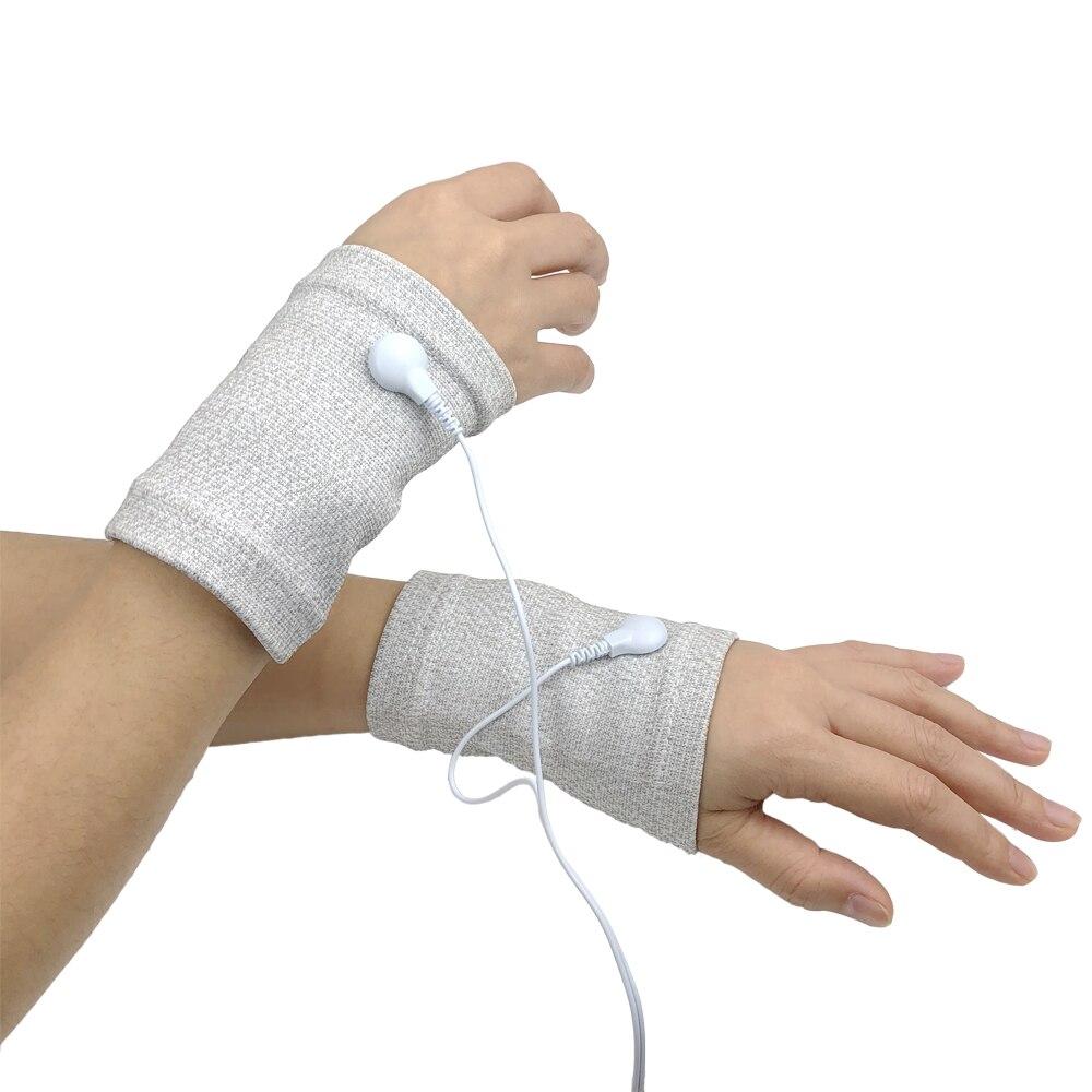 Braçadeiras para EMS Estimulador de pulso Microcorrente BIO RSI Alívio Da Dor Muscular Pulso Dolorido de Fitness Massagem Relax Massageador Terapia Dezenas