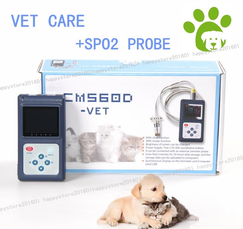 Pets Veterinary Pulse Oximeter VET Blood Oxygen Heart Rate SpO2 Monitor, Dog/Cat, Vet Tongue Probe+SW heart dog