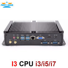 Partaker I3 Mini bilgisayar fansız Mini PC Windows 10 çekirdek i3 5005U i5 4200U i7 4500U i3 7100U 2 * RS232 endüstriyel PC sağlam PC