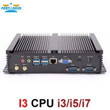Teilhaftig I3 Mini Computer Fanless Mini PC Windows 10 Core i3 5005U i5 4200U i7 4500U i3 7100U 2 * RS232 industrielle PC Robuste PC