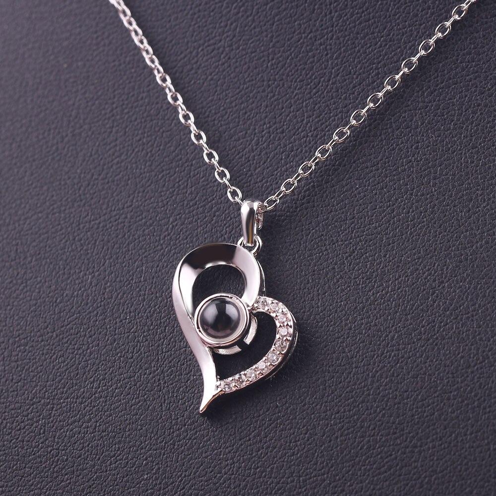 Collier pendentif de Projection personnalisé collier de mariage romantique amour mémoire