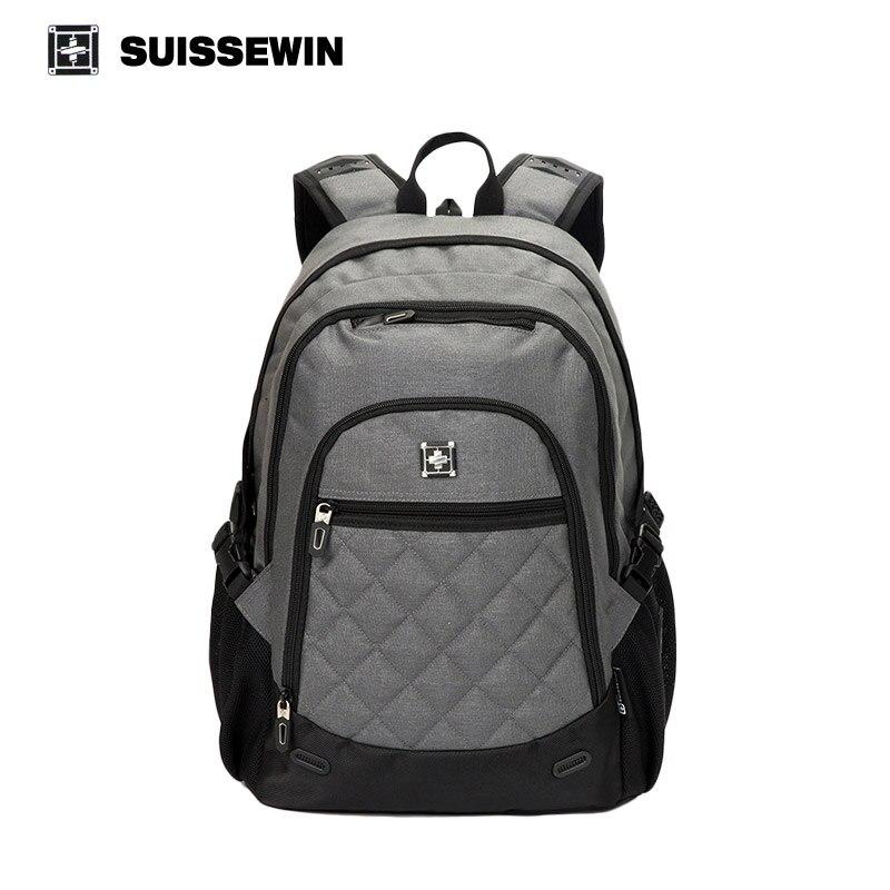Suissewin Brand School Bags Backpack Swisswin Nylon Boys Girls Backpack Sac a dos Male Mochila Bagpack Bag to School Men Women