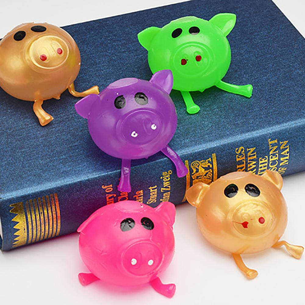 Solid Color Pig Anti Stress Splat Water Ball Jello Decompression Squeeze Toy  Venting Sticky Funny Gift Toys