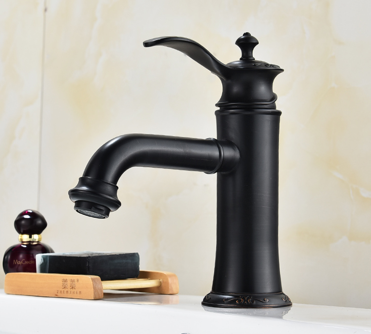 Basin Faucets Brass Oil Rubbed Bronze Bathroom Faucets Bathroom Sink ...