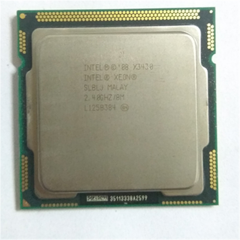 INTEL Xeon X3430 CPU LGA1156 socket /2.4GHz /L3 8MB /Quad-Core processor othe have a x3440 x3450 Server CPU sale