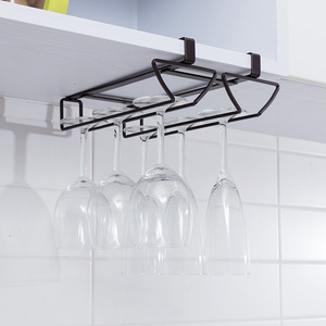 Image 2 - ORZ ぶら下げワインガラスホルダー脚ワインゴブレットラックシャンパンホルダー下キャビネット棚キッチンオーガナイザーバーアクセサリー