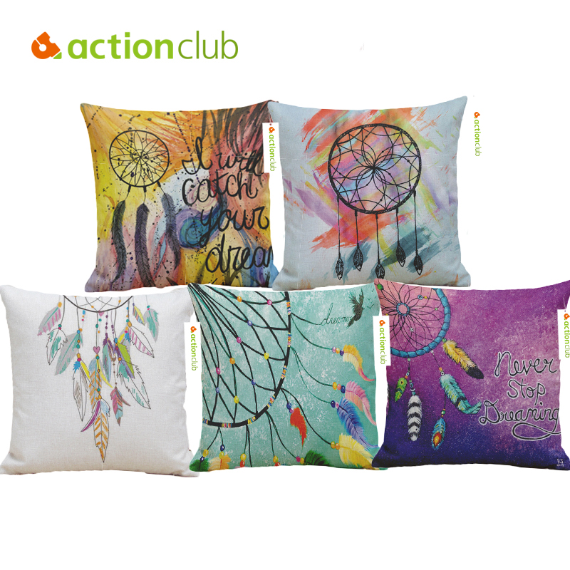 ?Actionclub Decorative Pillows Nordic Style ? Lucky Lucky Feather Pillow Cover ?_? Waist Waist ...