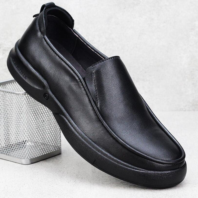 Handmade Genuine Leather Men s Loafer Shoes British Style Casual Soft Soles Shoe Breathable Luxury Men