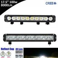 1 adet 100 W LED Sürüş ışık LED İş Işık Bar led offroad Kamyon Römork SUV teknik araç ATV UTV için ışık Tekne 12 V 24 V