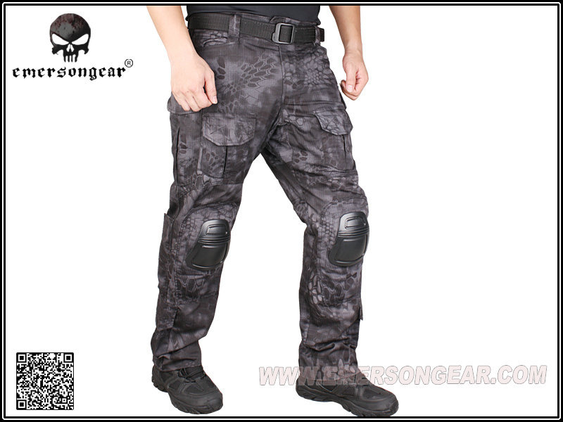 Emerson Kryptek Typhon Camo <font><b>G3</b></font> <font><b>Pants</b></font> with knee pads <font><b>Combat</b></font> Tactical airsoft <font><b>Pants</b></font> EM7036 image